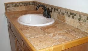 bathroom tile countertop ideas impressive tile bathroom countertop ideas with diy marble tile