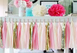 pink garland aliexpress buy pink gold tissue paper tassel garland