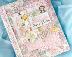 baby girl scrapbook album baby girl album etsy
