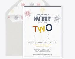 2nd birthday invite etsy