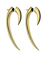 hook earrings shaun leane women s yellow gold vermeil hook earrings size 1