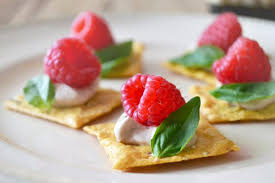 and easy canapes easy appetizer recipe raspberry basil canapés