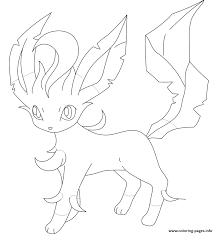 leafeon pokemon coloring pages printable