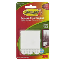 command damage free picture hanging strips medium white set of 4