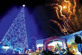 Christmas Tree Made Of Christmas Lights - giant christmas tree parols made by inmates light up ligao city