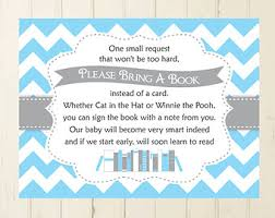 bring book instead of card to baby shower bring a book card navy baby shower book insert printable