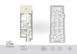 floor plan studio type floor plans elite business bay residence dubai
