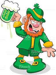 leprechaun drunk on green beer stock vector art 533177925 istock