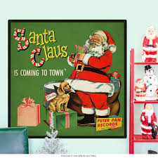 santa claus is coming christmas wall decal holiday decor