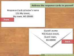 how to address response card envelopes with pictures wikihow