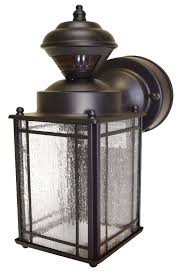 Outdoor Light Fixtures Motion Sensor Bronze Motion Sensor Outdoor Lighting Outdoor Wall