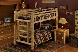 Norway Pine Log Bunk Bed For Adults And Children The Log - Log bunk beds