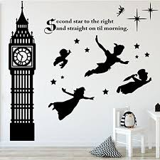 Wall Decal For Kids Room by Amazon Com Peter Pan Decor Disney Wall Decals Vinyl Art