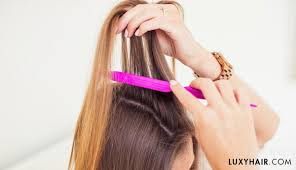 hair extensions for crown area how to blend clip in luxy hair extensions with thin hair