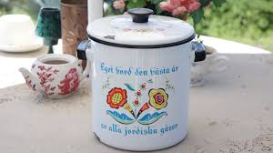 vintage 60s 70s swedish country style enamel