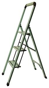 designer series slim 3 step ladder contemporary ladders and