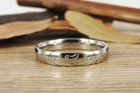 ring weding handmade two heart become one heart matching wedding rings his