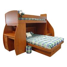 Bunk Beds With Desk And Storage by Wooden Twin Over Full Bunk Bed With Curved Desk And Lots Of