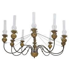 Candle Lit Chandelier Ten Light Chandelier In Brass With Glass