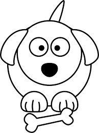 easy to draw dog clipart clipartxtras