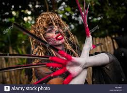 men with red fingernails and curlers in hair long nails stock photos long nails stock images alamy