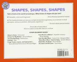 shapes shapes shapes tana hoban 8601400666746 amazon com books
