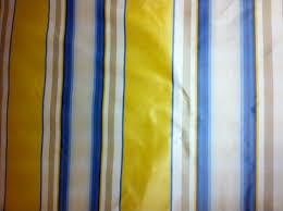 Stripe Drapery Fabric Silk Taffeta Butter Yellow Ivory Gold U0026 Blue Vertical Stripe