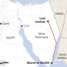 Flight Path Map Graphic Of Sinai Peninsula Air Crash Scene Abc News Australian