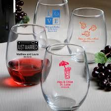 stemless wine glasses wedding favors stemless wine glass favors personalized favors