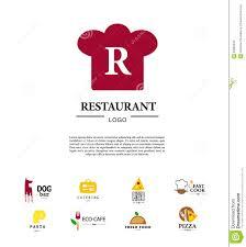 vector set of restaurant logo design templates stock vector