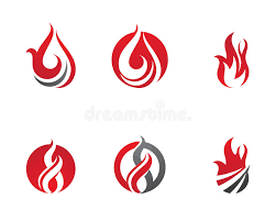 fire flames logo template stock vector image of design 66014508