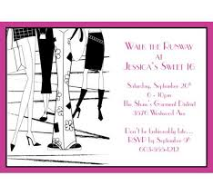 theme invitations fashion party theme invitation