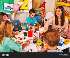 children painting drawing kids club image u0026 photo bigstock