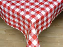 Vinyl Table Cover The Tablecloth Shop Red Gingham Vinyl Tablecloth Table Cover 2