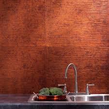 fasade backsplash ripple in moonstone copper