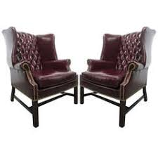 Chesterfield Wing Armchair Chesterfield Leather Wingchair In Oxblood Red One Seat Vintage
