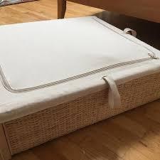 ikea under bed storage find more römskog underbed storage box rattan for sale at up to 90 off