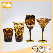 hand blown color drinking glass hand blown color drinking glass