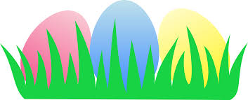 three easter eggs in grass free clip art