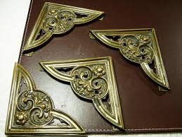 Decorative Desk Pads And Blotters by Art Nouveau Brass Corners For Desk Blotter Or Pad Sold On Ruby Lane