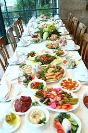 Table Full Of Food Stock Photo Image Of Dishes Avocado 4091728