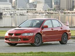 mitsubishi red 2005 mitsubishi lancer evolution mr red side angle 1024x768