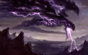 halloween background with purple halloween background monster of thunder background photo shared by