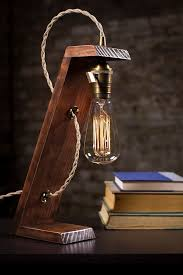Edison Table L Wooden Edison Table L Desk L Bed Light Light