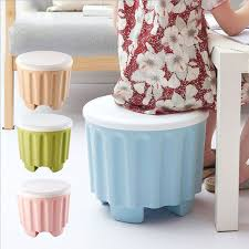Plastic Ottoman Creative Multi Functional Stackable Storage Stool Low Change Shoe