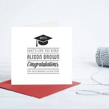 Doctor Who Congratulations Card Graduation Personalised Card By Quirky Gift Library