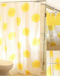 Sunflower Yellow Curtains Color Beautiful Sunflower Shower Curtain