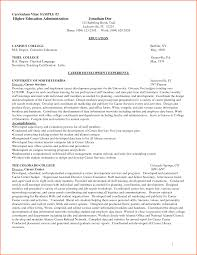 Example Education Resume by Resume Examples For Higher Education Augustais