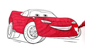 coloring book colored markers cars lightning mcqueen paint