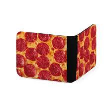 Meme Wallet - pepperoni pizza wallet mens wallet womans wallet printed wallet